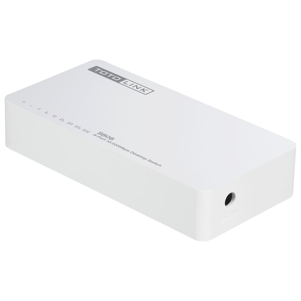 TOTOLINK-S808 8-Port 10/100Mbps Desktop Switch